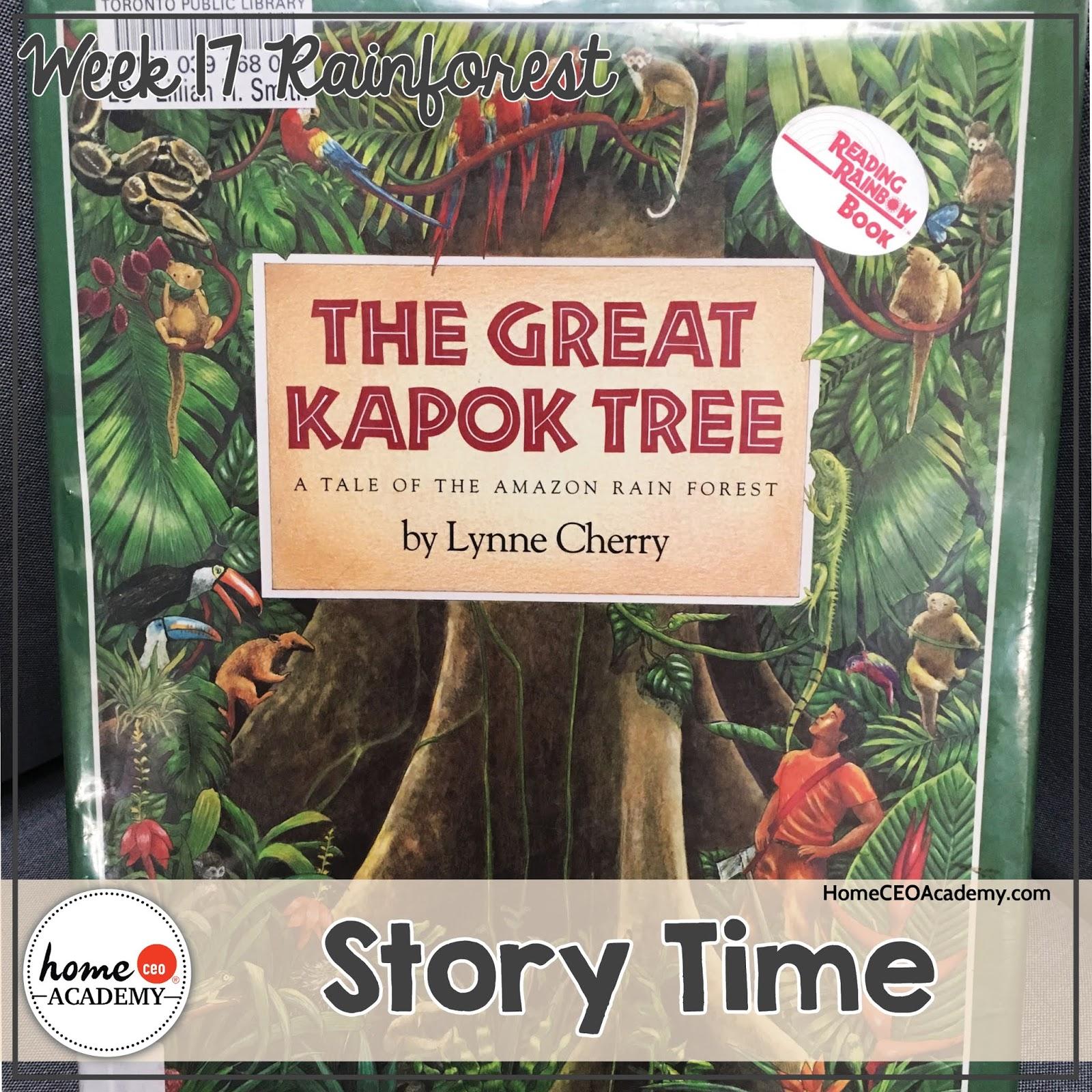 Preschool Homeschool Rainforest Life Unit