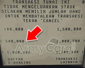 cara mengambil uang di atm bank bca