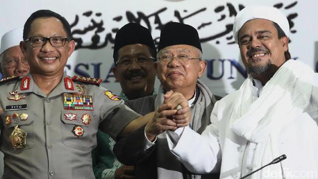 Habib Rizieq Akan Pulang 21 Februari, KH. Ma'ruf Amin Berharap Semua Kasus Hukumnya Segera Dipertanggungjawabkan....