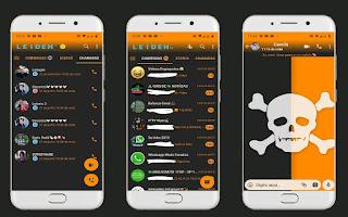 Skull 2 Theme For YOWhatsApp & Fouad WhatsApp By Leidiane