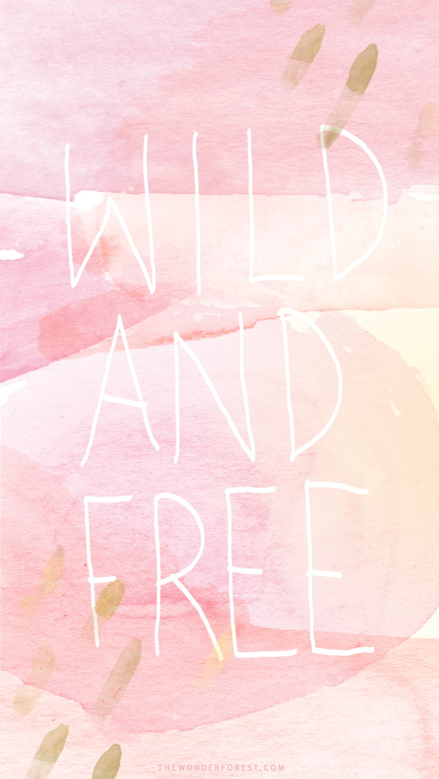 Free Pink And Gold Watercolor Iphone Wallpapers Wonder Forest