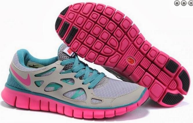 new concept 57b3f cc049 Herr Dam Nike Free Run 2 Aska Månaden Rosa Sneaker