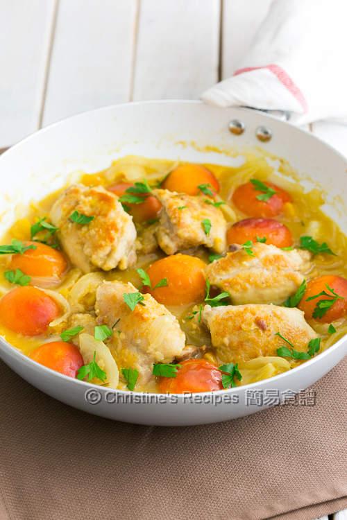 蜜桃炆煎雞腿【甜美多汁】Apricot Chicken Fillets | 簡易食譜 - 基絲汀: 中西各式家常菜譜