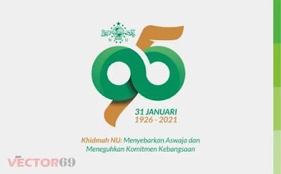 Harlah NU ke-95 Tahun 2021 Logo - Download Vector File CDR (CorelDraw)