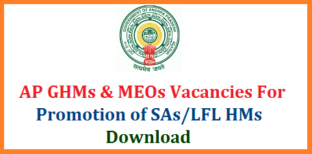 AP GHMs MEOs Zone wise Vacancies for Promotions of SAs and LFL Headmasters Andhra Pradesh Gazitted Headmasters Mandal Educational Officers Vacancies in Zone I Zone II Zone III and Zone IV Vizz Vizayanagaram, Srikakulam Vsakhapatnam East Godhavari West Godhavari Krishna Guntur Prkasam Nellore Chittoor Ananthapuram Kadapa Kurnool ap-ghms-meos-headmasters-mandal-educational-officers-vacancies-for-promotions-sa-lfl
