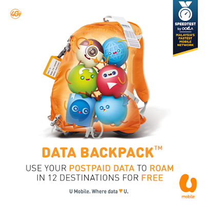 U Mobile Free Internet Roaming Data Postpaid