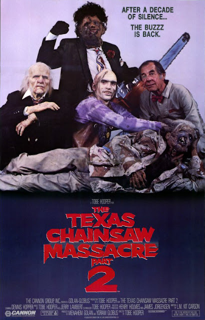Cannon Films's The Texas Chainsaw Massacre 2 (1986) movie poster