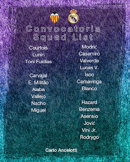 Los convocados para visitar Mestalla