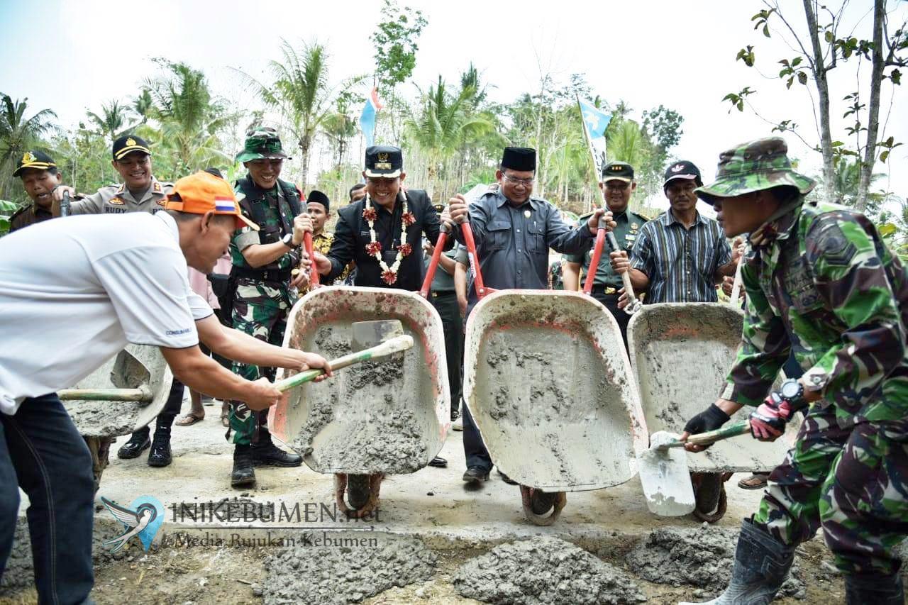 TMMD Reguler di Padureso Bakal Bangun Jalan Penghubung Antar Desa 673 Meter