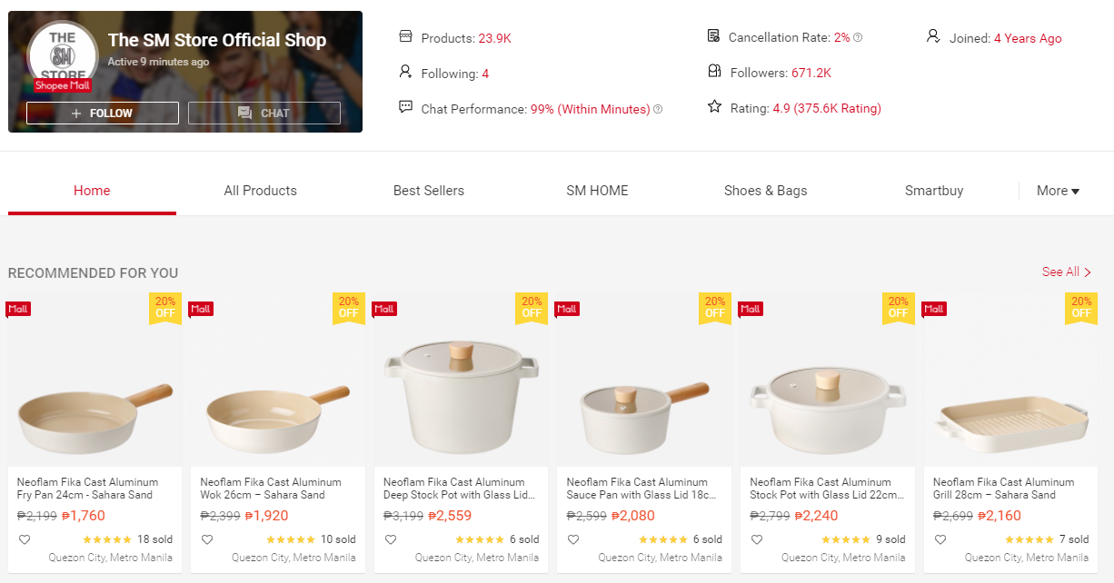 The SM Store Shop on Shopee