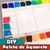 DIY Paleta de aquarela | Aquarela em tubos