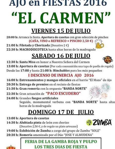 Fiestas del Carmen 2016 en Ajo