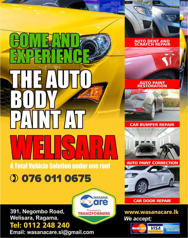 Wasana Care | Come and Experience the Auto Body Paint at Welisara.