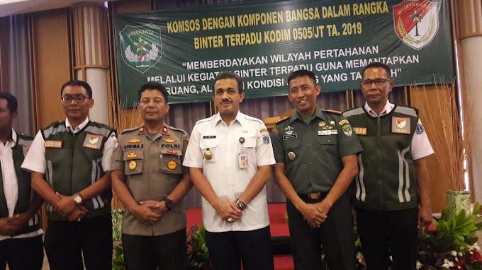 Bersama Komponen Bangsa,  Kodim 0505/Jakarta Timur Gelar Pembinaan Komsos
