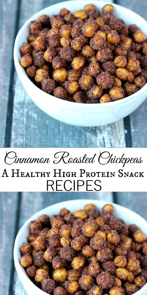 Cinnamon Roasted Chickpeas #Healthyrecipes
