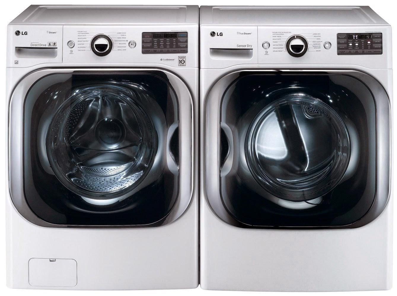 Lg An Mega Capacity 5 1 Cf Turbowash Steam Washer With 9 0 Dryer