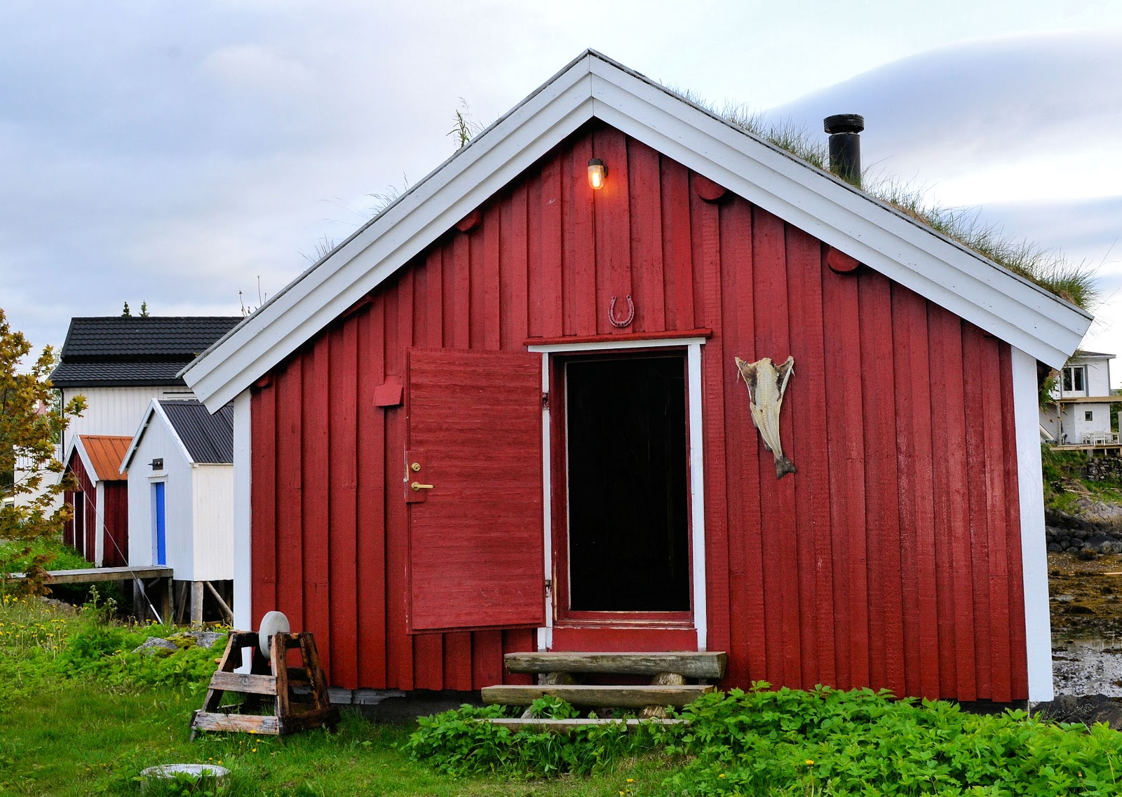 This authentic rorbu cabin in Svolvær, Norway, dates back to 1870.