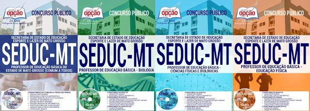 Apostila Secretaria de Educação de Mato Grosso (Seduc) MT 2017