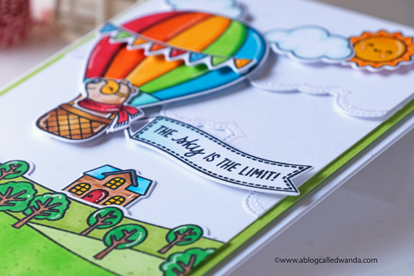 Sunny Studio Stamps: Balloon Rides Country Scenes Plane Awesome Everyday Card by Wanda Guess