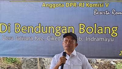 Tinjau Bendungan Situbolang, Anggota Komisi V DPR RI Bambang Hermanto Serap Aspirasi Masyarakat