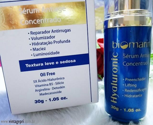 #Testei: Biomarine Hyaluronic Sérum Antiage Concentrado