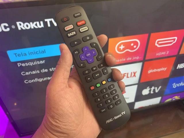 Roku OS embarcado em televisores AOC