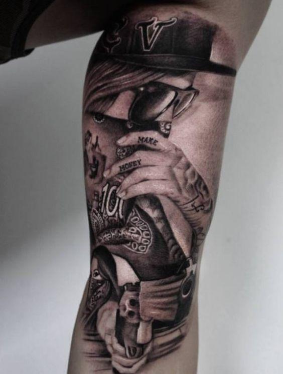 tatuajes de pandilleros y tattoo bandida