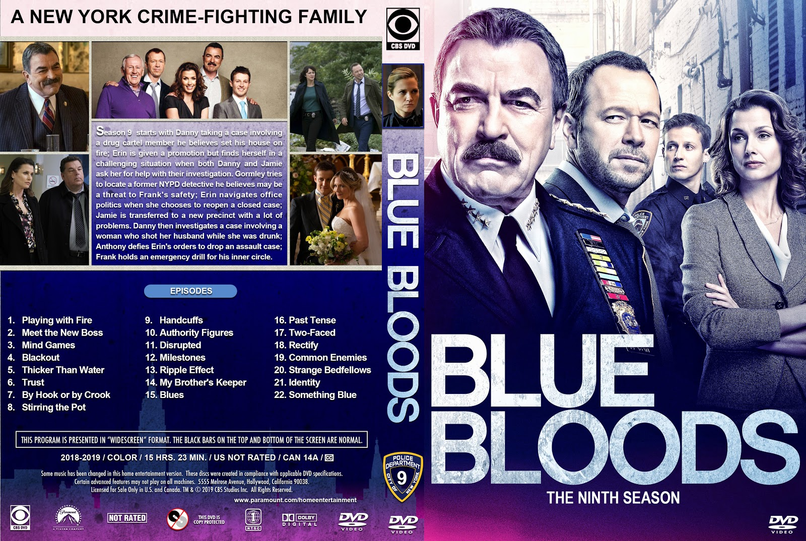 Blue Bloods Season 9 DVD Cover | Cover Addict - Free DVD