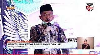Debat Terakhir, Sugiri Sancoko lontarkan pujian kepada Bambang Tri Wahono