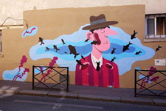 Sunday Street Art : Mr Pee - rue du Retrait - 2015 - Paris 20