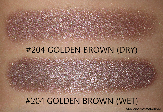 PUPA Milano Vamp! Wet & Dry Eyeshadows Review 204 Golden Brown Swatch