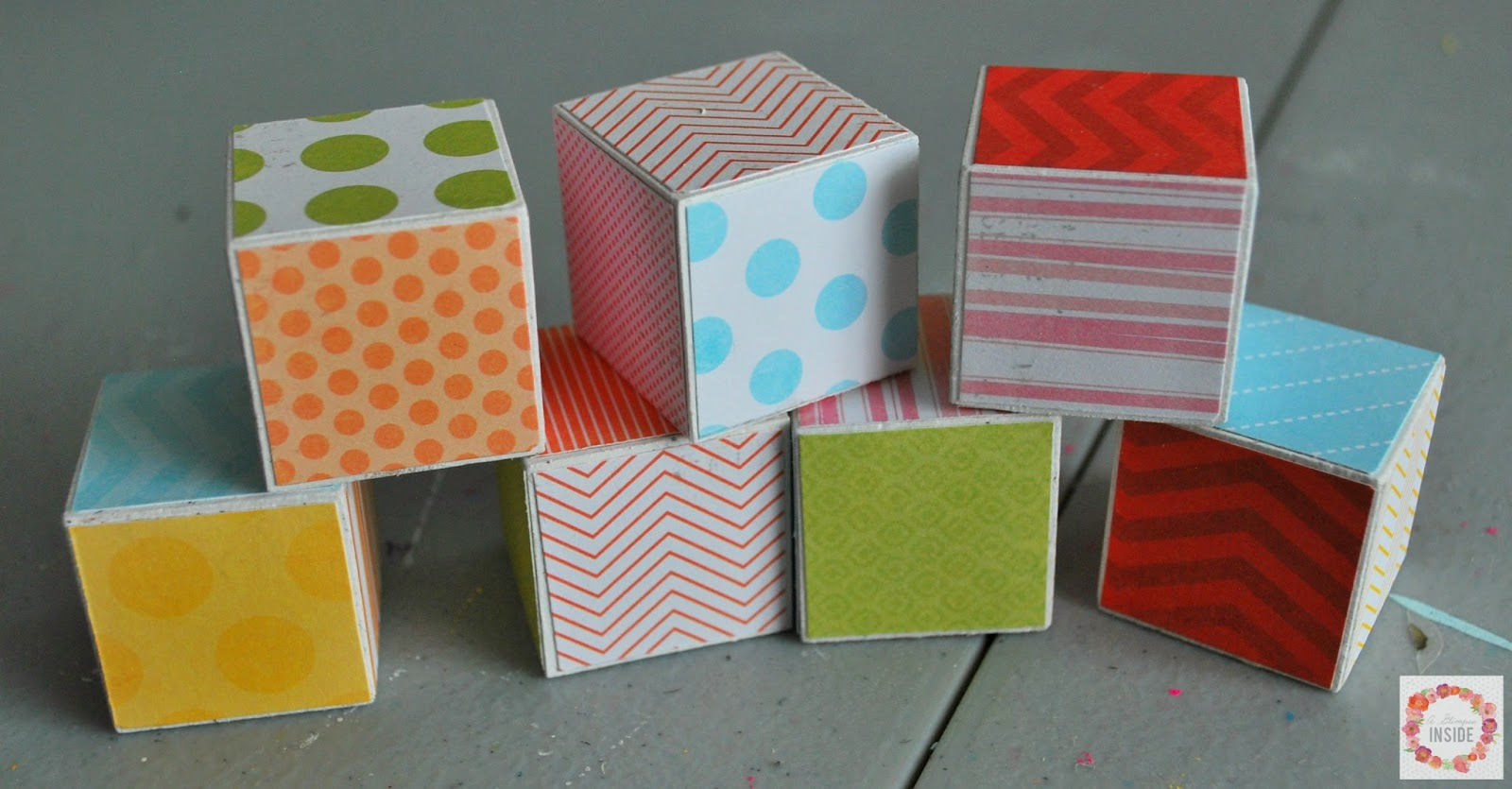 adhere paper to blocks