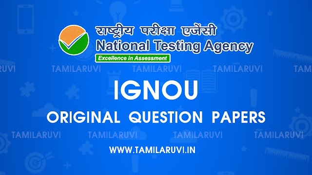 IGNOU All Subject Original Question Paper