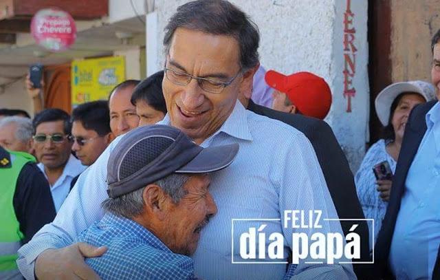 Presidente Vizcarra envía saludo a los padres del Peú