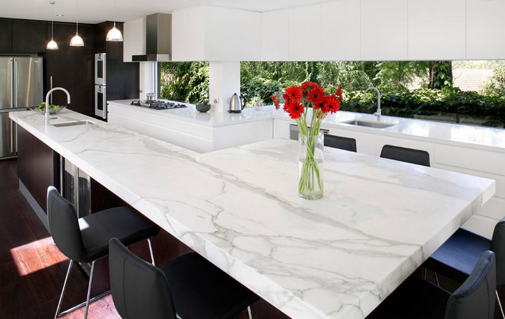 Encimeras de m rmol una opci n para la cocina cocinas - Como cortar marmol encimera ...