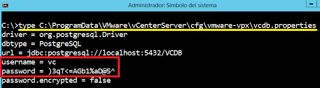VMWare: Conectar con vPostgres sobre Virtual Center Windows