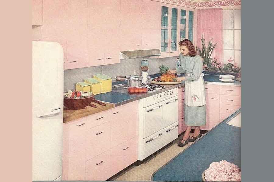 Mendekorasi Dapur Gaya Retro
