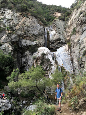 Dan Simpson at Fish Canyon Falls, Angeles National Forest, May 7, 2016