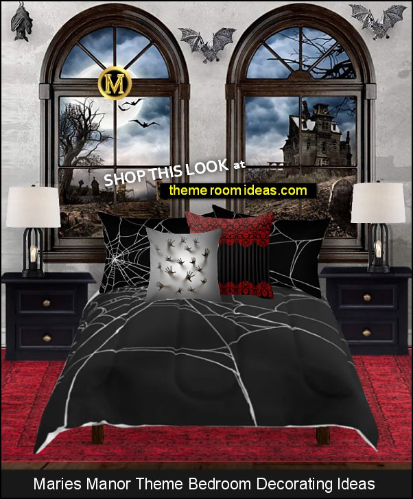 gothic bedroom ideas Gothic home decor Gothic bedroom Gothic style Vampire Bats of Castle Haunted Mansion  Gothic Bedroom Furniture Gothic Bedding