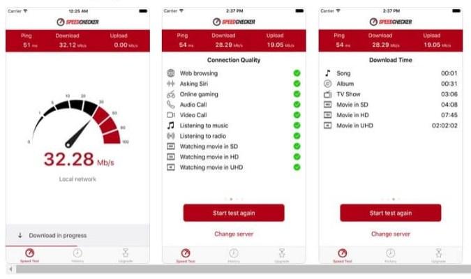 Aplikasi Internet Speed Test Terbaik tuk iOS - SpeedChecker