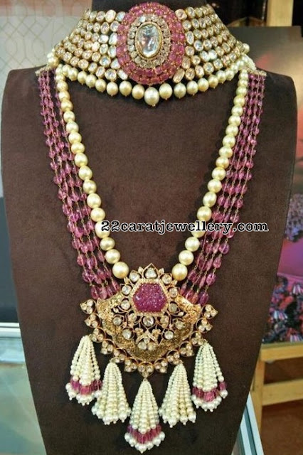 Polki Choker Pearls Chain