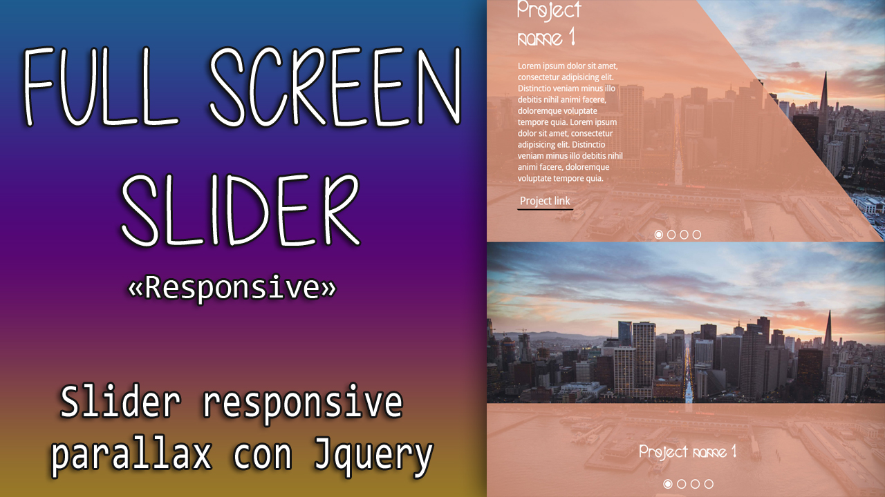 Full screen Slider with Parallax