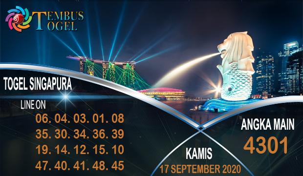 Angka Keluar Togel Singapura Kamis 17 September 2020