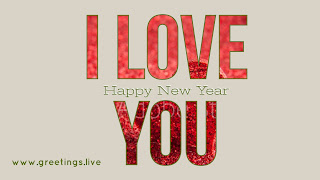 I love you Happy New Year 2018 wishes English