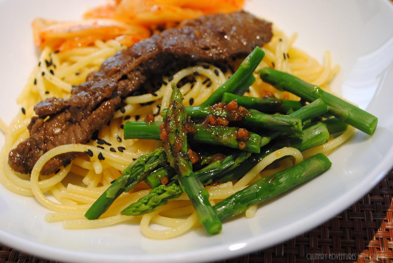 Asparagus in Korean - low calorie content