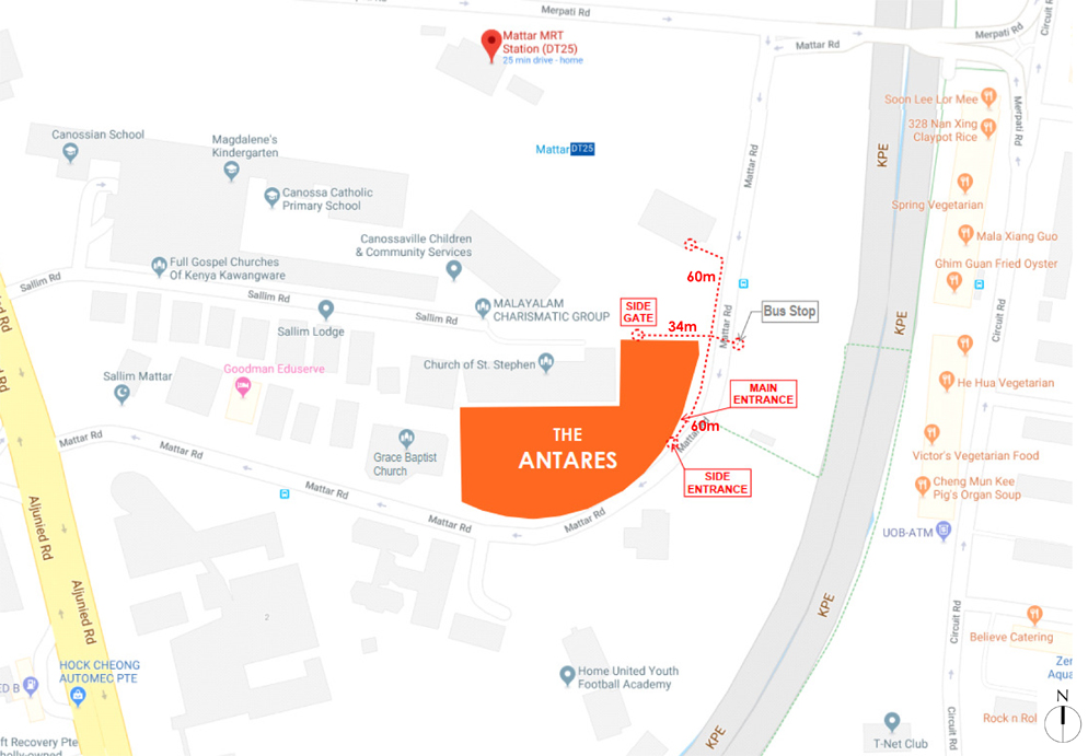 The Antares Location Map