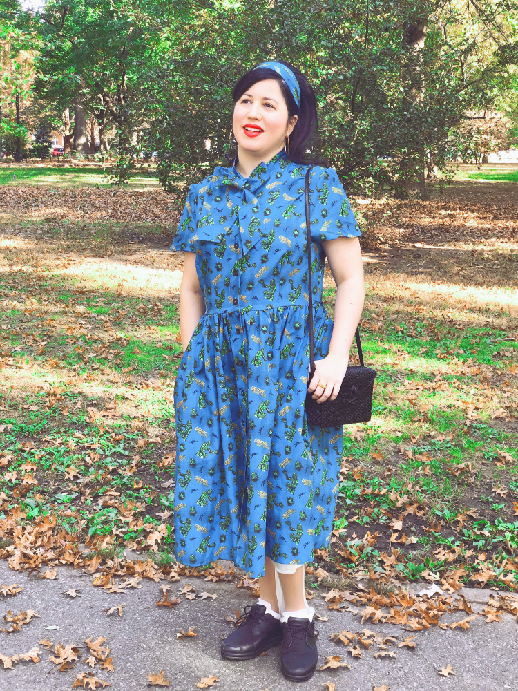 A Vintage Nerd, Vintage Blogger, Vintage Blog, Old Hollywood Blog, Classic Film Blog. Retro Blog, Retro Lifestyle Blog, Retro Lifestyle, Unique Vintage, Creature from the Black Lagoon Dress, Retro Dress, Chiller Theater, Sixties Style, Modern Retro Fashion, Vintage Inspired Fashion, Disability and Fashion, Leg Braces, Universal Movies, Plus Size Retro Fashion