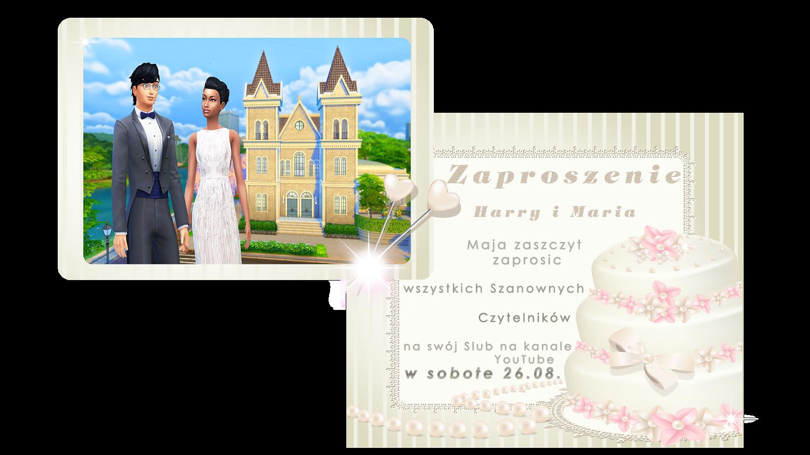 100 Baby Challenge Pl The Sims 4 67 Zaproszenie Na ślub Oraz Nowi