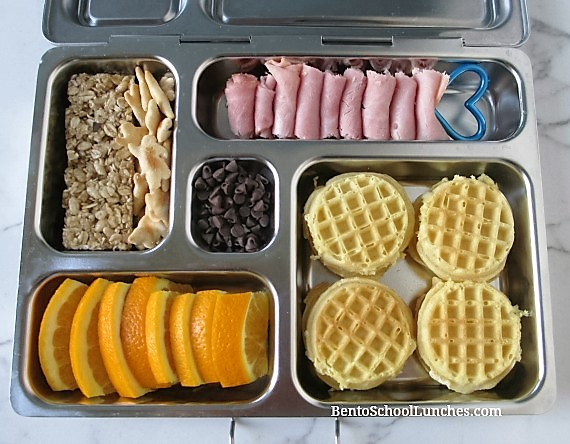 mini cream cheese waffles breakfast for lunch in Planetbox