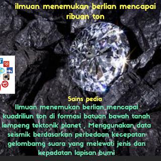 Berlian mencapai kuadriliun ton ditemukan , ilmuan ungkap kebenaran nubuwat.